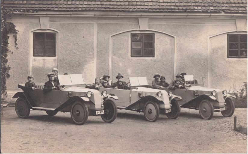Automobily Tatra 11 v polovině dvacátých let 20. století