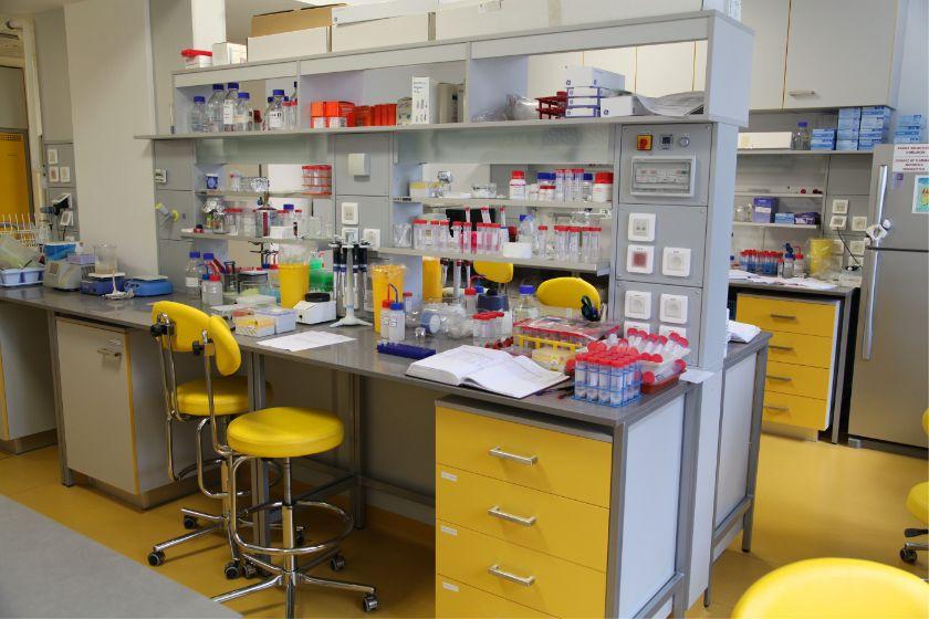 Laboratoře v novém křídle Ústavu organické chemie a biochemie AV ČR v Praze-Dejvicích