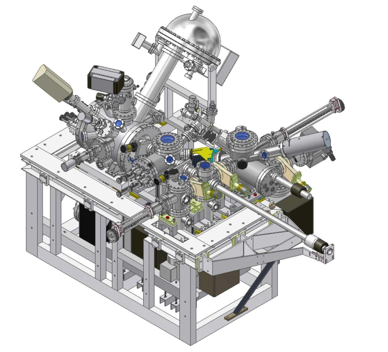 Rastrovací mikroskop UHV SLEEM-II s pomalými elektrony pro studium atomově čistých povrchů v ultravysokém vakuu.